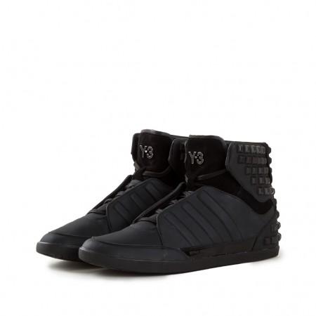 Y-3 Leder Sneakers HONJA HIGH black