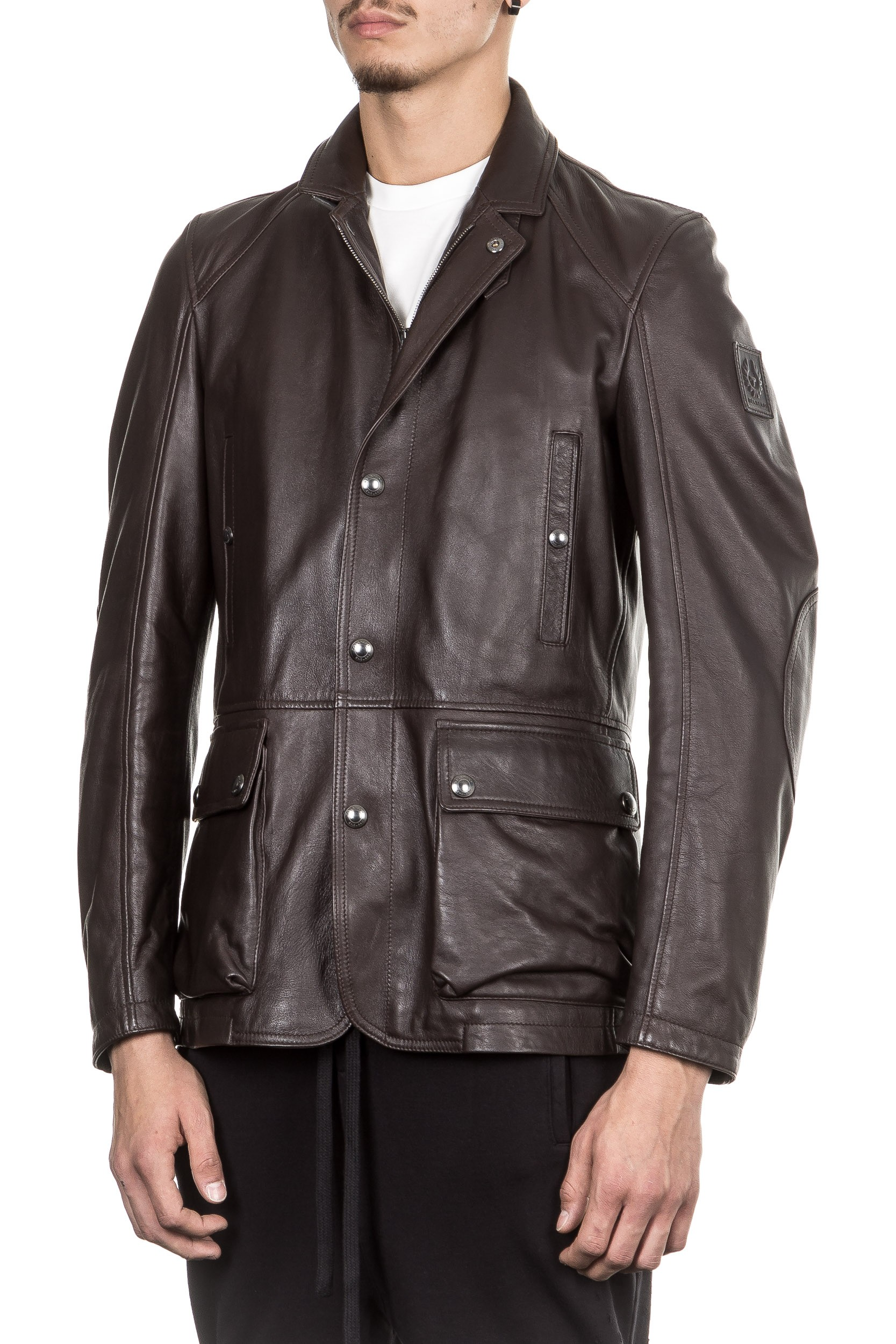 belstaff lederjacke herren braun apollo. Black Bedroom Furniture Sets. Home Design Ideas
