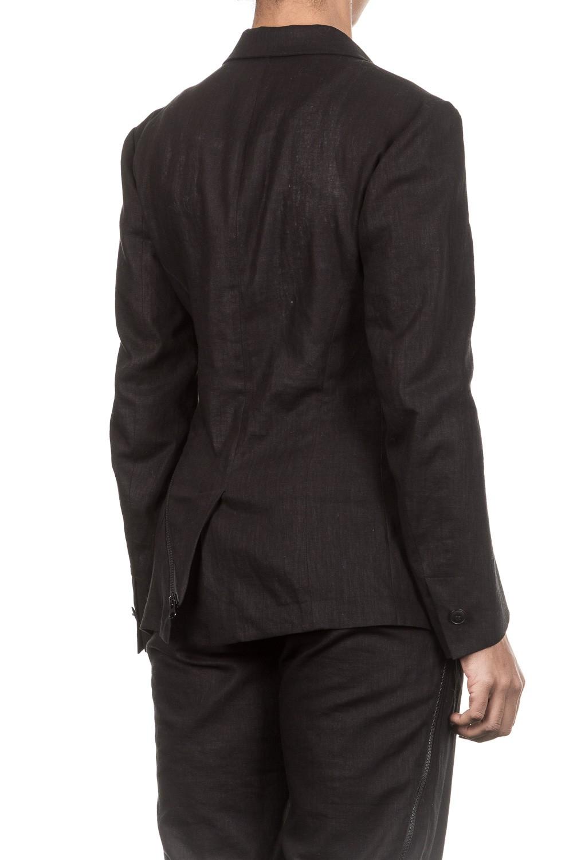 yohji yamamoto damen blazer mit zip schwarz luxuryloft. Black Bedroom Furniture Sets. Home Design Ideas