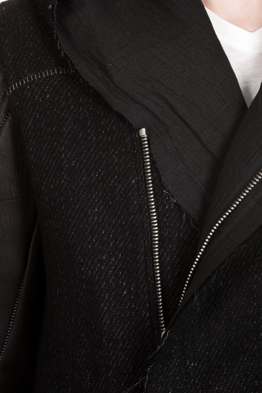 10sei0otto Herren Jacke mit Kapuze schwarz