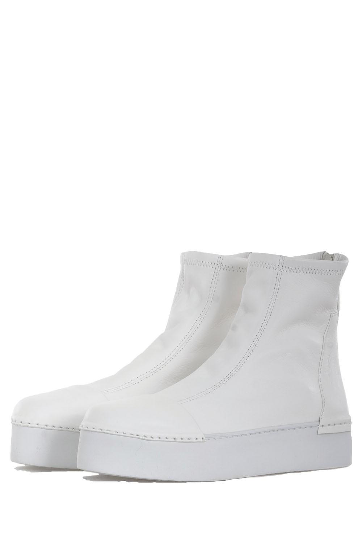 best website 25b48 2668c PURO Damen Leder Boots MAXIMALEFFORT weiß