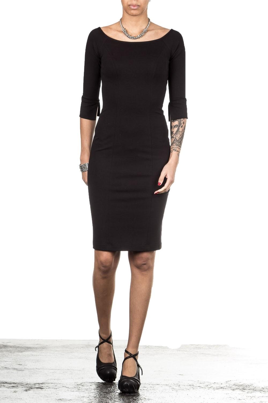 Plein Sud Jeanius Damen Jersey Kleid lang schwarz | LuxuryLoft