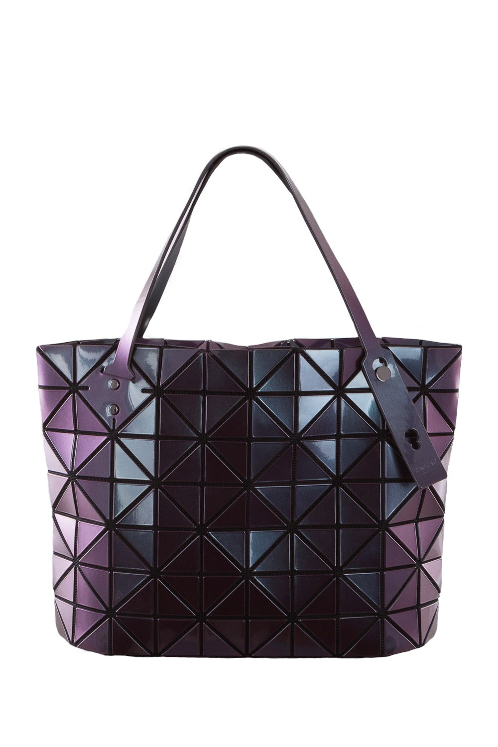 bao bao issey miyake handtasche rock metallic weinrot luxuryloft. Black Bedroom Furniture Sets. Home Design Ideas