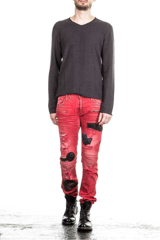 robin s jean herren jeans motard patches rot luxuryloft. Black Bedroom Furniture Sets. Home Design Ideas