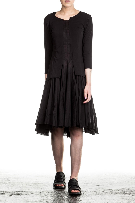 f3ad8ac3101595 Rundholz Black Label Damen Kleid Avantgarde schwarz