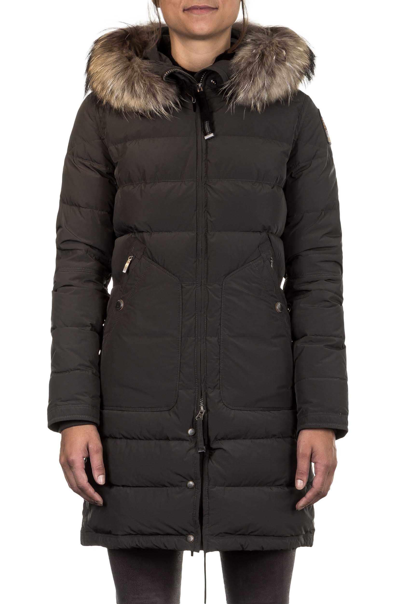 parajumpers daunenmantel light long bear mit fellkragen