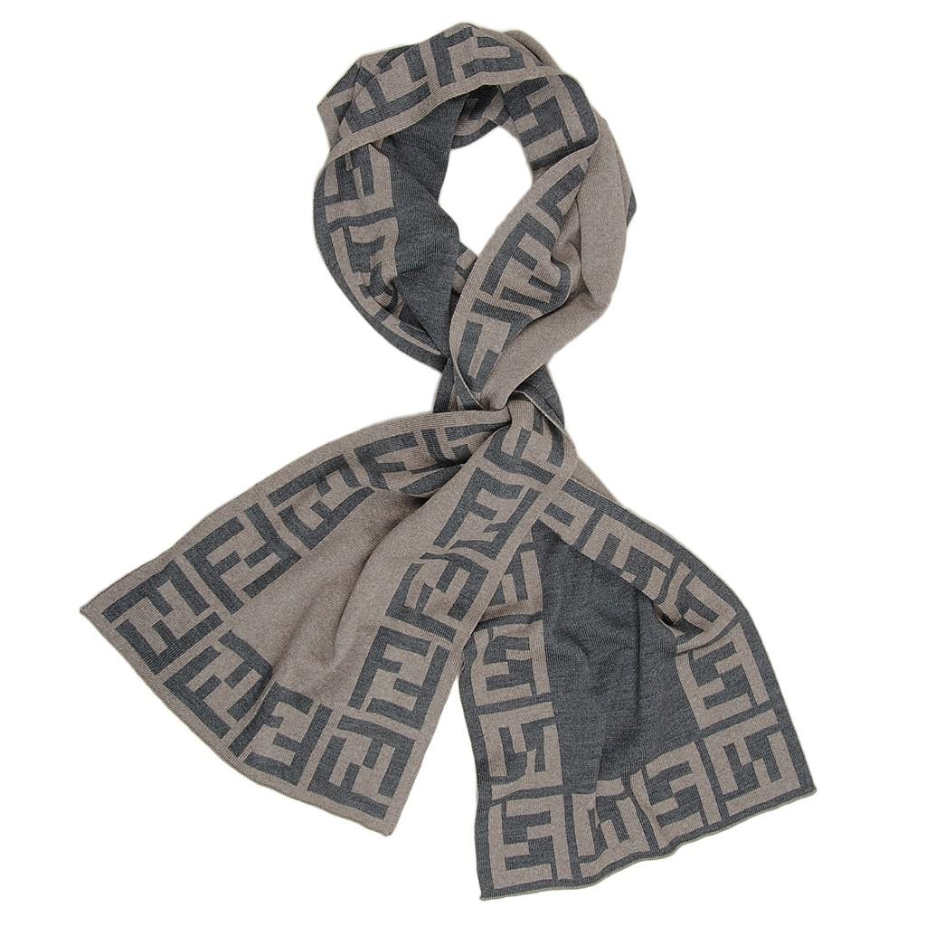 Auschecken Durchsuchen Sie die neuesten Kollektionen abholen Fendi Schal beige/grau