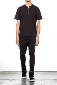 Y-3 T-Shirt mit Knopfleiste schwarz