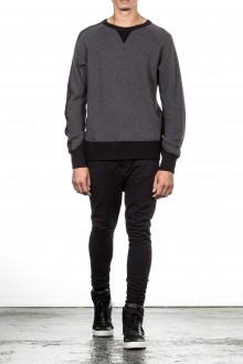 Y-3 Woll Sweatshirt M WOOL CREW mit Raglanarm black