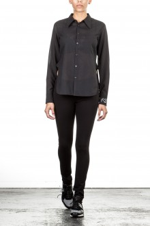 Y-3 Damen Bluse SHEER SHIRT schwarz