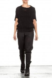 Isabel Benenato Grobstrick Pullover schwarz