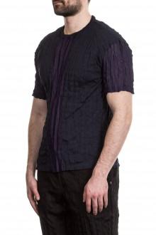 ISSEY MIYAKE Herren T-Shirt Crashed Look navy
