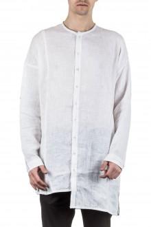 Isabel Benenato Herrenhemd lang weiß