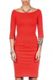 Plein Sud Jeanius Damen Jersey Kleid lang rot