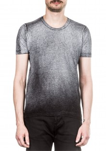 AVANT TOI Herren Leinen T-Shirt Coated grau