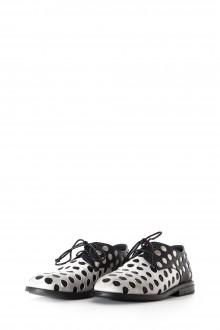 Marsèll Damen Schnürschuhe gepunktet schwarz weiß
