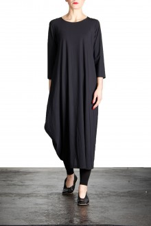 Yukai Damen Kleid Asymetrisch schwarz