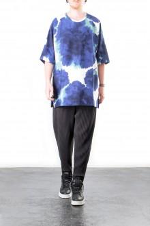 ISSEY MIYAKE Herren T-Shirt INK T ONESIZE blau weiß