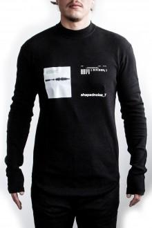 Julius Herren Oversized Langarm Shirt schwarz