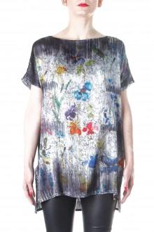 Avant Toi Damen T-Shirt Floral grau