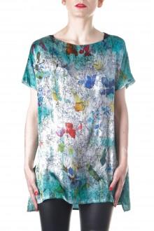 Avant Toi Damen T-Shirt Floral grün