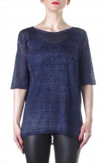 AVANT TOI Damen Strick T-Shirt blau