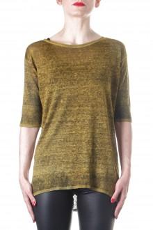 AVANT TOI Damen Strick T-Shirt gold