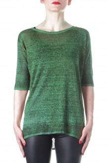 AVANT TOI Damen Strick T-Shirt grün
