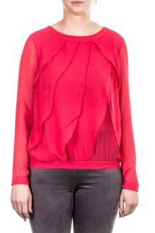 Janice & Jo Damen Bluse Layer Look rot