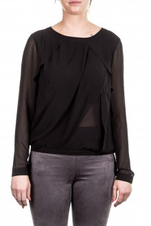 Janice & Jo Damen Bluse Layer Look schwarz