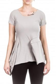Rundholz Damen T-Shirt Avantgarde hellgrau