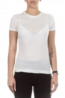 Thom Krom Damen Baumwoll T-Shirt weiß