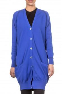 Y-3 Damen Cardigan oversized blau