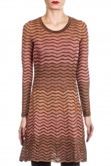M Missoni Damen Strick Kleid multicolor
