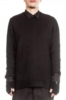Julius Herren Grobstrick Pullover schwarz