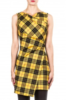 Plein Sud Jeanius Damen Kleid mit Tartanmuster multicolour