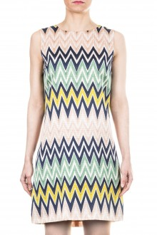 M Missoni Damen Kleid Zick Zack Print multicolor