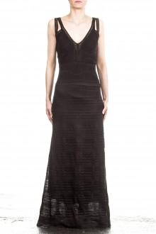 M Missoni Damen Maxi Strick Kleid schwarz