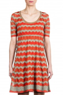 M Missoni Damen Strick Kleid multicolour