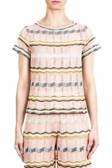 M Missoni Damen Strick Shirt multicolour