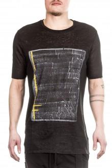 Thom Krom Herren T-Shirt mit Print schwarz
