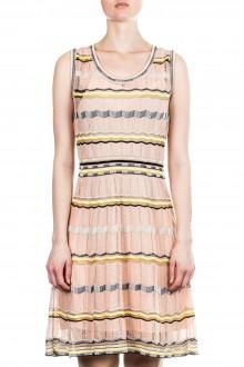 M Missoni Damen Strick Kleid mehrfarbig