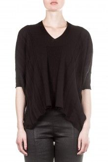 Masnada Damen Strick Shirt schwarz