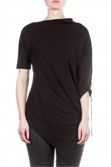 Masnada Damen Shirt asymmetrisch schwarz