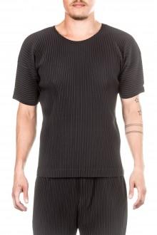 Homme Plissé Issey Miyake Herren T-shirt schwarz