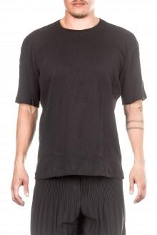 ISSEY MIYAKE Herren T-Shirt Crashed Look  schwarz