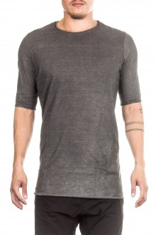 Masnada Herren T- Shirt asymmetrisch ICON POINT grau