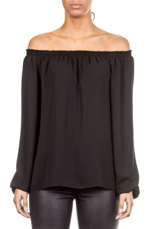 Janice & Jo Damen Bluse Carmenausschnitt schwarz