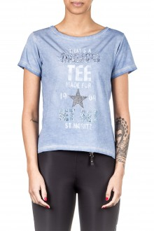 Jet Set Damen T-Shirt INDI blau