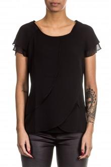 Janice & Jo Damen 1/2 Arm Bluse Layer Look schwarz
